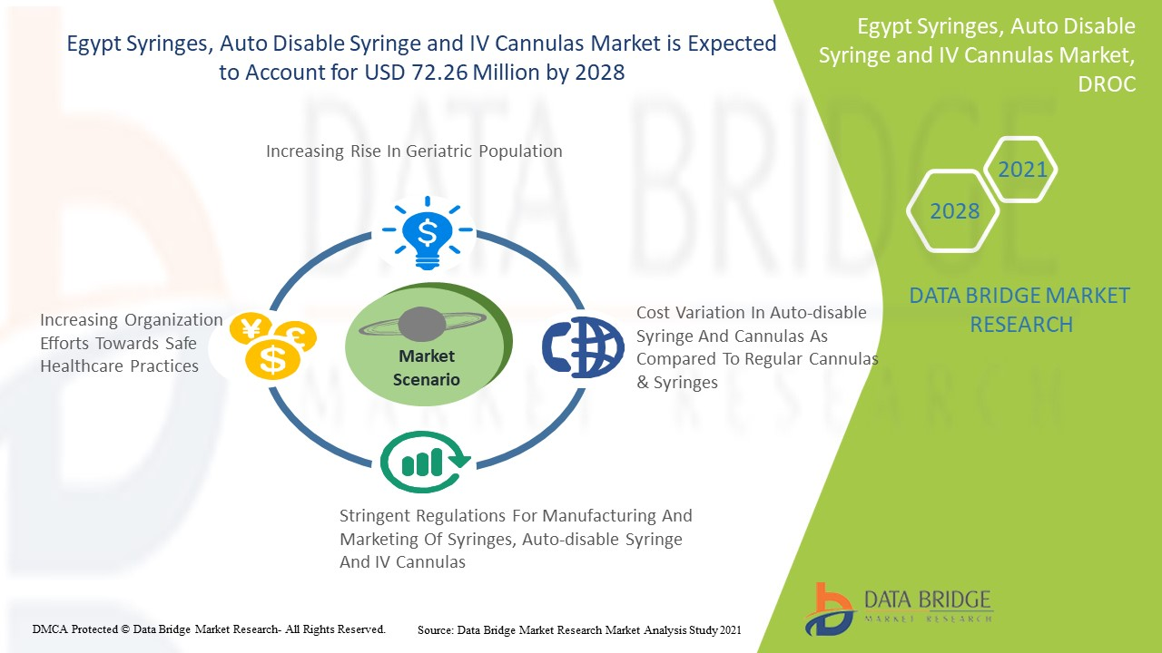 Egypt Syringes, Auto Disable Syringe and IV Cannulas Market